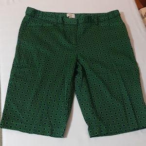 Dark green navy long shorts size 8